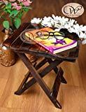 #10: wood art store Wooden Handicraft Folding Coffee Table/Centre Table For Living Room