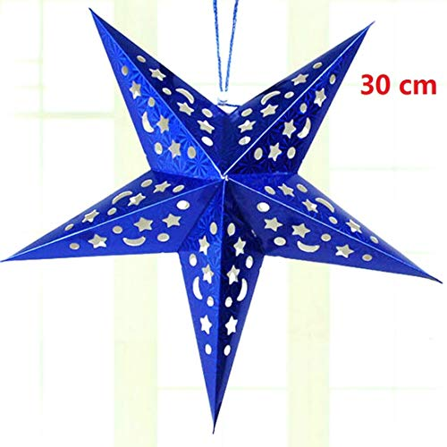 Christmas Party - Well 30 60cm Diy Paper Stars Garland Star Decoration Christmas Ornaments Wedding Birthday Party - Passed Instruments Storage Keepsake Decoration Large Unique Ornaments York Musi