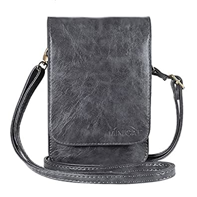 90c6a0452b MINICAT Touch Screen Series Premium PU Leather Small Cross Body Cell Phone  Wallet Purse Smartphone bag