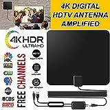 Leoie 80 Miles Range 30dB Indoor HD Digital Signal Amplifier and TV Antenna