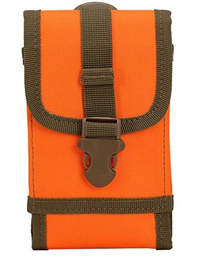Menschwear Nylon Gürteltasche Outdoor Sport Hüfttasche Doggy Tasche Sportstasche Gürtellinie Waist Tasche Hip Pack für Wandern Laufen Radfahren Camping Reise Klettern Tarnung 5 Orange