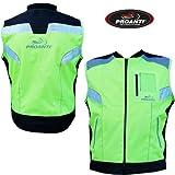 Motorrad Warnweste Sicherheitsweste Motorrad Quad Neon Weste von PROANTI®