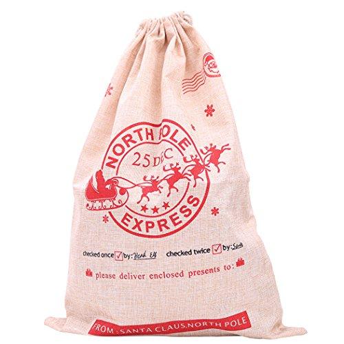 Coafit Geschenktüten Weihnachten Drawstring Tuch Candy Bag Weihnachtsmann Taschen