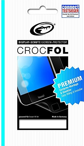 CROCFOL PREMIUM 5K HD (2er PACK) Schutzfolie für das Wiko Bloom Ultraklar & praktisch unsichtbar. ANTIBAKTERIELL (LOTUS EFFEKT) & KRATZFEST (HARD COATING). 3D Touch Folie für das Original Wiko Bloom.