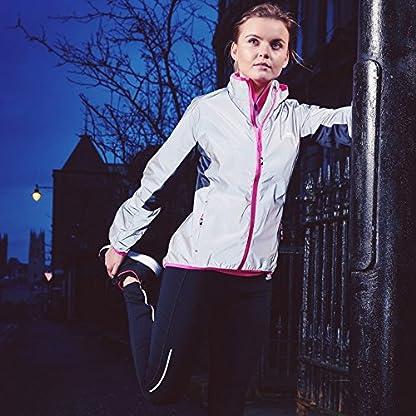 Trespass Women's Lumi Active Windproof and Waterproof Cycling and Running Outdoor Luminous Jacket 3