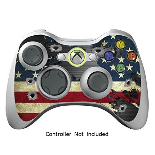Xbox 360 Controller Designfolie Sticker - Vinyl Aufkleber Schutzfolie Skin für Xbox 360 Controller - Battle Torn Stripes (Minecraft Xbox 360-controller)