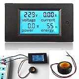 ELEGIANT AC 100A Digital LED Medidor de Voltaje Electricidad Amperímetro Voltímetro Multímetro Potencia Energética Monitor