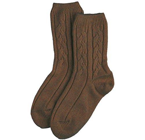 Pringle Cashmere (Cashmere Sock House - Scotland Damen Socken weiß Chalk White Einheitsgröße Gr. Einheitsgröße, otter)