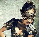Emwel Femme Sexy Yeux Masque Dentelle Noir pour Mascarade Mask Halloween Partie, Vampire Balle