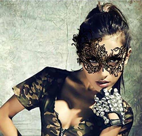 Carryme Schwarze Damen Spitze sexy Masquerade Maskenspiel Karneval Party Ball Gesicht (Tragen Frauen Kostüme)