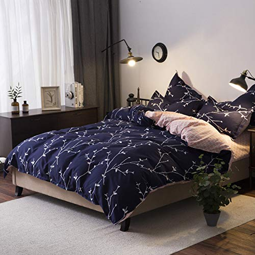 YATING Heimtextilien pastoralen Bettwäsche Schleifen vierteiligen Studentenwohnheim Einzelbett dreiteiliges Set Gute Nacht 2,0 m vierteilig (Nacht Eule 2 Kostüm)