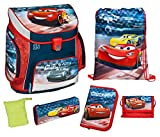 Scooli Schulranzen Set Campus UP, Disney Pixar Cars, 6 teilig, 40 cm, 20 L, Blau
