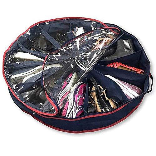 Nrpfell 12 Pares de Zapatos Soporte de Organizador de Almacenamiento Redondo Contenedor Visible MultifuncióN...