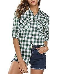 1fc68ca024 Amazon.it: cinese - A quadri / Bluse e camicie / T-shirt, top e ...