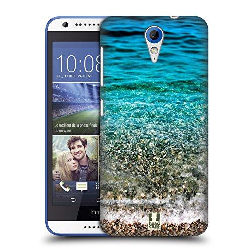 Head Case Designs Transparente Wellen Wundevolle Strände Ruckseite Hülle für HTC Desire 620/620 Dual SIM