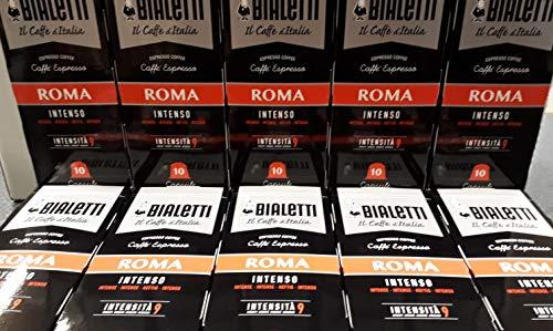 Bialetti Compatibili Nespresso Roma, 10 Confezioni da 10 capsule (100 Capsule)