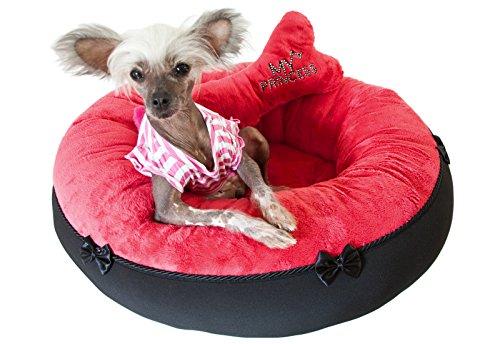 hundeinfo24.de CopcoPet – Runde Hundebett Nelli Microfasersoff – Pink Gr.: Ø ca. 65 cm