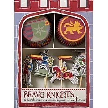 Brave chevaliers Lot de moules à Cupcake