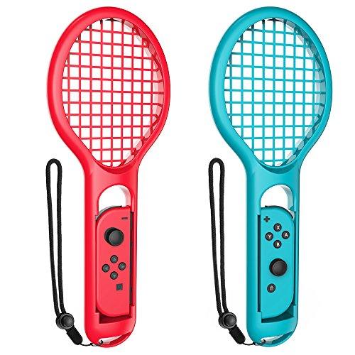 Fintie Tennisschläger für Nintendo Schalter Joy-Con Blau/Rot (Back-up-batterie Tv)