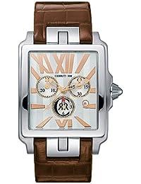 Cerruti CT064631024 - Reloj cronógrafo de caballero de cuarzo con correa de piel marrón (cronómetro) - sumergible a 50 metros