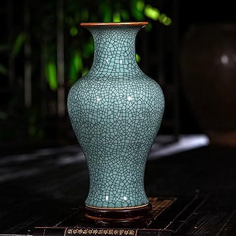 Loopsd Porcellana Guanyao antichi vaso Floreale incrinato cinese classico soggiorno
