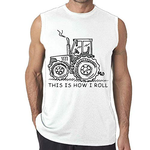 8194254e7333c This is How I Roll Funny Farmer Farming Tractor Men s Sleeveless T-Shirt Tank  Top
