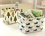 Leisial Aufbewahrungsbox für Baumwolle und Wäsche, Aufbewahrungstasche aus wasserdichtem Material, Griffe beidseitig für Kleidung von Kindern mit niedrigem Alter oder Haustier-Zubehör, style D, 20.5x16.5x13.5cm - 3