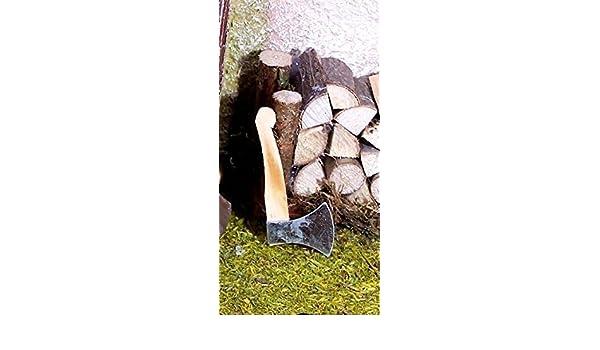 Miniatur Holzbeil mit Metallklinge Größe 5 cm Krippenwerkzeuge.