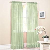 Providethebest Nueva cortina escarpada del color sólido de la gasa del panel de la ventana Cortinas