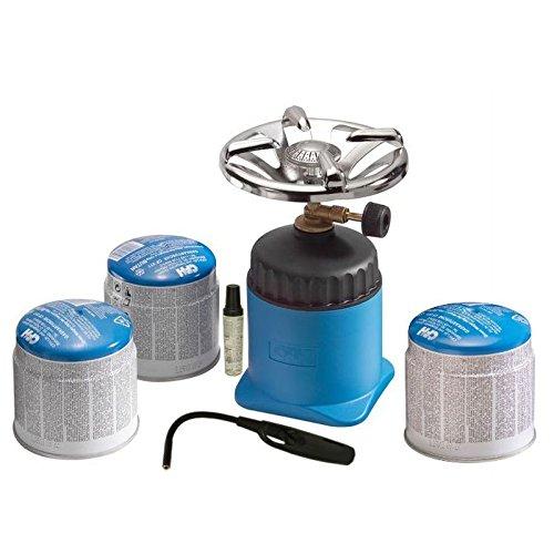 CFH Kit Cartouche Bouilloire Happy Camper + Cartouche de rechange + allume gaz turbo