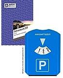 Sparpack Avery Zweckform 223 Fahrtenbuch, DIN A5 hoch, steuerlicher km-Nachweis, 40 Blatt, weiß + Multifunktions-Parkscheibe (integriertem Eiskratzer + 3 Chips für Einkaufswagen)