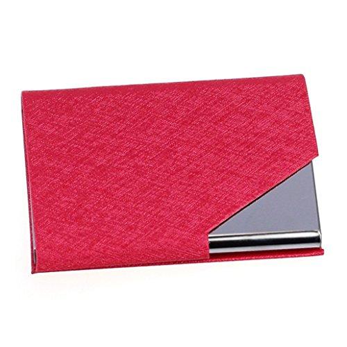 Mini Leder-id-fall (Wawer Mini Box Business Name ID Kreditkartenetui Kreditkarteninhaber Fall Abdeckung visitenkartenbox Kreditkarten Etui Case Wallet 9,5 * 6,5 * 1,4 cm / 3,7 * 2,6 * 0,6 Zoll (Colour B))