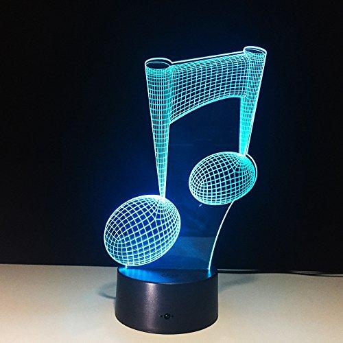 7 farbwechsel led lampe 3d musik note nachtlicht musiknote instrument licht luminaria wohnkultur usb led musik liebhaber geschenk han-7633
