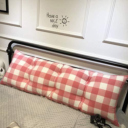 AOLIr Bedside Pillow , Bett-Rückenlehnen-Kissen-Stützbett-Kissen mit entfernbarem waschbarem gestepptem Cover-90 * 50Cm,rot,150 * 50 cm