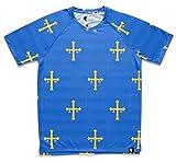 HOOPOE T-Shirt de Course Homme Asturias, Manches Courtes, DryClim, Gym, Running, Sport, Original, Amusant, PatriaQuerida Taille M