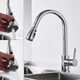 Swivel Spout Kitchen Sink Mixer Taps with Pull Out Sprayer Modern Kitchen Tap
