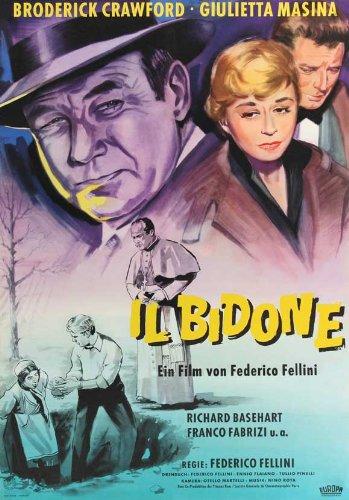 The Swindle Poster film In tedesco 11 x 17 cm x 28 cm, 44 Broderick Crawford Giulietta Masina Richard Basehart Franco Fabrizi Sue Ellen Blake