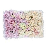 Sharplace Farbverlauf Künstliche Blumen Säule, Kunstblumen Panel für Garten Hochzeit Dekoration - Farbverlauf A # 3