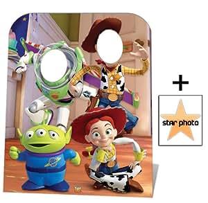 Toy Story remplaçant (taille de l'enfant) Buzz, Woody et Jessie Personnage Découpé Dans Du Carton / Silhouette En Carton: Grandeur Nature / Standee / Stand-Up - Avec Star Photo (Dimensions 25x20 Cm)