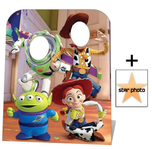 Fanbündel - Toy Story Stand-in (Child Size) Buzz, Woody and Jessie Lebensgrosse Pappfiguren / Stehplatzinhaber / Aufsteller - Enthält 8X10 (25X20Cm) starfoto (Toy Story Stand)