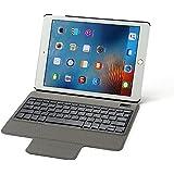 """Rii Funda con teclado Bluetooth para Apple iPad Pro 9.7"""" - (QWERTY layout español), color negro (ES-BT12)"""