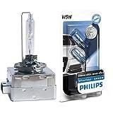 2X Philips 85415XVS1 Xenon X-treme Vision D1S, 1-er Blister +  Philips WhiteVision Xenon-Effekt W5W Scheinwerferlampe 12961NBVB2, Doppelblister, 12V, 5W von Philips