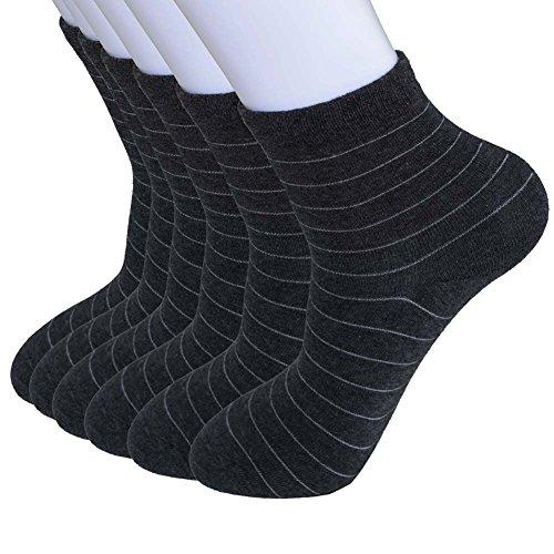 YOEEKU 6 paires de chaussettes thermiques des hommes thés à part entière dans un design sportif - super doux et chaud