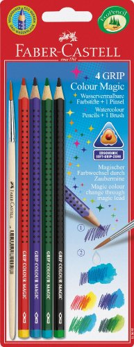 Faber-Castell 113095-4 Colour Grip Magic und 1 Pinsel