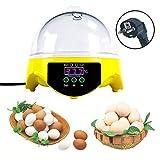 Huatuo® 7 Eier Halbautomatische Mini Digital Temperaturregelung Eier Inkubatoren Geflügel Hatcher für Ausbrüten Huhn Gans Ente Ei