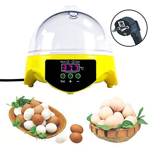 Huatuo 7 uova semiautomatiche automatiche digitali per il controllo della temperatura di uova incubatrici di pollame per l'incubazione di oche di pollo e anatre