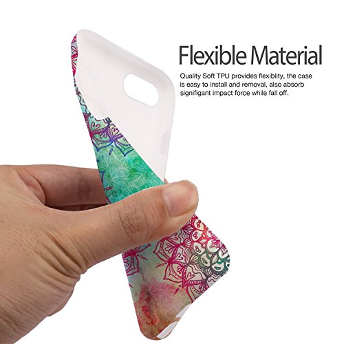 iPhone 8 Plus / iPhone 7 Plus Hülle, ZUSLAB Marmor Muster Schutzhülle, Weiche Flex TPU Silikon Bumper Case Ultra Dünn Handytasche für iPhone 8 Plus / iPhone 7 Plus Mehrfarbig Mandala
