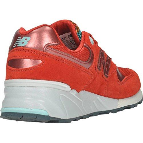 Basket, couleur Rouge , marque NEW BALANCE, modÚle Basket NEW BALANCE WL999 CEB Rouge Rouge