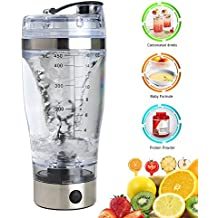 New_Soul Coctelera para Batidos Eléctrico Proteínas Shaker Botella 450ML Recargable Mixer Eléctrica Botella Blender Botella Desmontable