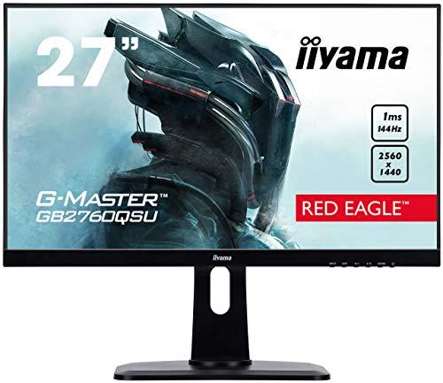 iiyama GB2760QSU-B1 68,58 cm (27 Zoll) Monitor (VGA, HDMI, 1ms Reaktionszeit, 2560 x 1440, höhenverstellbar) schwarz